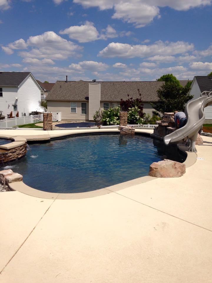 Aqua Pools St Louis Swimming Pool Construction Company Custom Swimming Pool Sunset Hills Mo